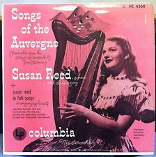 SUSAN REED songs of the auvergne LP VG+ ML 4368 CBS Alex Steinweiss Cover