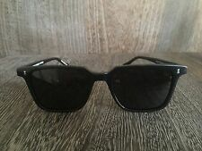 OLIVER PEOPLES NDG BLACK SQUARE SUNGLASSES DARK GREY LENS - NEW WITH CASE