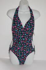 NWT HOT TOPIC one piece swim suit size XL black w/ stars