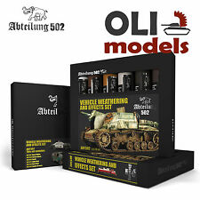 VEHICLE WEATHERING & EFFECTS Oil Paint Set 6x20ml Tubes - Abteilung 502 ABT-302