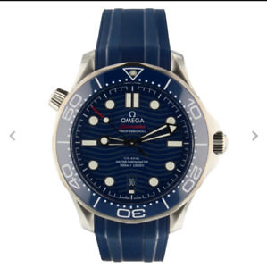 New Omega Seamaster Blue Dial Men's Watch 217.32.42.20.03.008