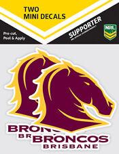 Official Brisbane Broncos NRL iTag UV Car Team Logo Mini Decal Sticker (2 Pack)