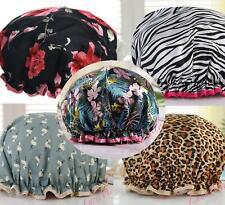 50 + Luxury Shower Cap Bath Hat Hair sleep Care womens  waterproof double layer