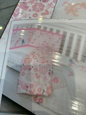 CuddleCo Comfi Dream 2 Piece Nursery Cot / Cot Bed Bedding Set - Love Birds