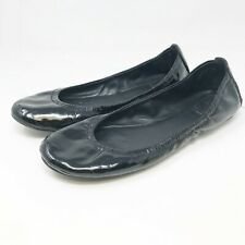 Tory Burch Eddie Black Patent Leather Ballet Flats