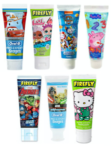 TOOTHPASTE KIDS BABY 0-2 YRS CHILDREN PAW PATROL PEPPA PIG DISNEY PJ MASKS 75ml