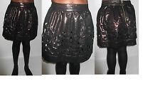 miss selfridge bronze metallic cutout panel tulip short skirt UK size 14