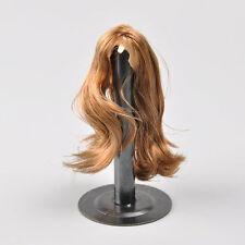 "Linen Brown Hair Wig Fit Kumik Toys 1/6 Female 12"" Action Figure Women Girl Head"
