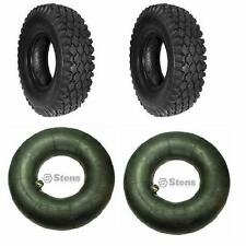 (2 New) 4.10/3.50-6 Tires and 2 New Tubes for Go cart Go Kart Minibike Parts