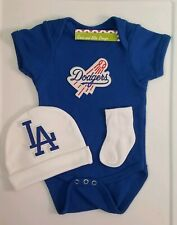 LA Dodgers newborn/baby 3pc outfit boy Dodgers baby clothes Dodgers baby shower