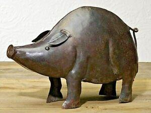 "Farmhouse Country Iron Pig Figurine 6.5"""