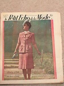 ORIGINAL VINTAGE LE PETIT ECHO DE LA MODE FRENCH FASHION MAGAZINE 1941  6 JULY