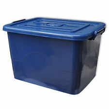 1 x Auflagenbox Rollen Deckel 95 Liter blau Aufbewahrungsbehälter Spielkiste