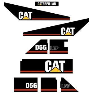 Decal Sticker Set CAT D5G LGP Bulldozer Decal Set