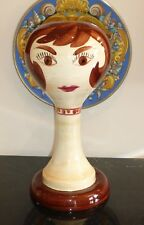 STANGL POTTERY VINTAGE WIG STAND HEAD OF LADY