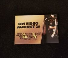 STAR WARS Trilogy Release Badge Promo Movie Pin Vintage Collectible