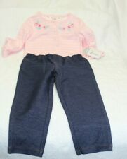 GIRLS SZ 24M 2 PC SET-LS BODYSUIT AND PANTS by CARTER'S-NEW WITH TAGS