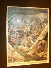 Retrocopertina Domenica del Corriere del 1902 Guerra Anglo-Boera Tweefontein Wet