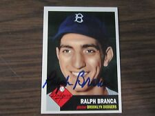 1995 Dodgers Archive #58 Ralph Branca Autographed / Signed card Brooklyn Dodgers