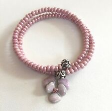 "Anne Kopik Swarovski Crystal Beaded Wrap Bracelet with Flower Charm ""Beauty"""
