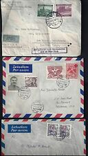 CZECHOSLOVAKIA 1940 50's US COLL OF 6 AIR MAIL COVERS ONE FROM BOHEMIA 1940 WITH