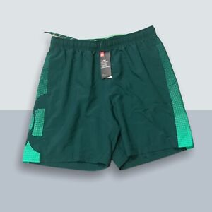 """Under Armour Men 8"""" Woven Graphic Linerless Shorts 1345713 Green 386  Size XL"""