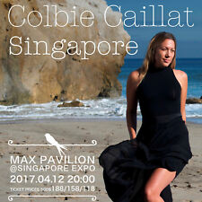 "COLBIE CAILLAT ""SINGAPORE"" 2017 CONCERT TOUR POSTER - Folk Pop, Pop Rock Music"