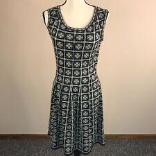 Max Studio Women's Size S Geometric Pleated Sleeveless Dress Multicolor