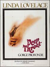 DEEP THROAT French Grande movie poster 47x63 LINDA LOVELACE HARRY REEMS 1972