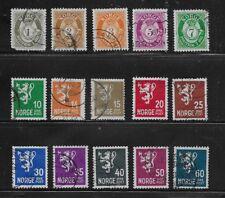 Norway Stamps-Scott # 162-176/A10 & A16-Set-Canc/LH-1937-NC