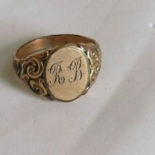 Victorian Ring Gold Filled Jewelry Initial Men's (907B)
