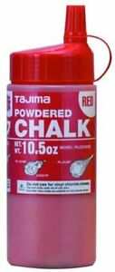 TAJIMA Micro Chalk - Red 10.5 oz (300g) Ultra-Fine Snap-Line Chalk