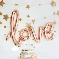 "40"" Gold LOVE Foil Helium Balloon Engagement Wedding Birthday Party Decoration"