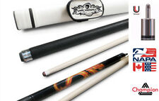 Champion Dragon Pool Cue Stick with Predator Uniloc Joint,White Case, Tiger Tip