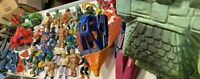 Huge Lot of Motu He-Man Figures and Castle Greyskull With Accessories