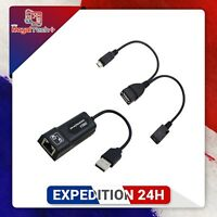 Adaptateur Ethernet USB 2.0 vers RJ45 2X Micro USB Cable LAN pour Amazon Fire TV