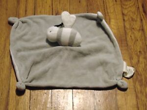 Burt's Bees Baby 'Hold Me' Bee Security Blanket Gray/White Unisex