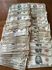 SET OF $5 BLUE SEAL SILVER CERTIFICATE   AND $5  RED SEAL U.S. CURRENCY NOTES