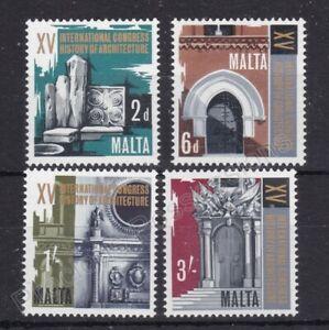 MALTA MNH STAMP SET 1967 HISTORICAL ARCHITECTURE CONGRESS SG 389-392