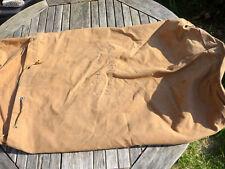 XL NAVY ROYAL MARINES CANVAS KIT BAG, SAUSAGE BAG. NAMED & NUMBERED CHAPPLE