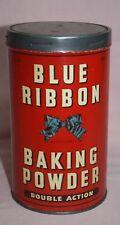 VINTAGE-BLUE RIBBON -BAKING POWDER 3 LB. BLUE RIBBON LTD  CANADA TORONTO TIN/CAN