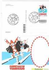 CODICE A BARRE - 1716 - CARNEVALE DI VIAREGGIO 2016 SU CARTOLINA UFFICIALE FDC