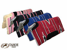 "Tahoe Tack Navajo Cut Back Western Saddle Pad with Fleece Lining 32"" x 32"""