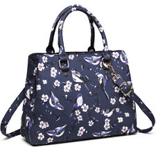 Ladies Designer Oilcloth Shoulder Tote Bag Shopper Handbag Bag Birds Print