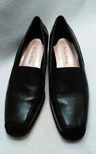 Bella Vita Black Suede & Leather Slip On Loafers ~ Sz 7 M