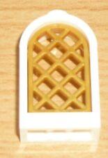 Lego Ritter 1 Fenster mit Gitter für Burg in weiß / perl gold (1 x 2 x 2)