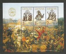 Lietuva Litauen MNH 2004 Mi 849-852 block 30 Sc 772a-d Millennium of Lithuania