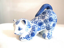 Bombay Blue & White Porcelain Cat Made in China