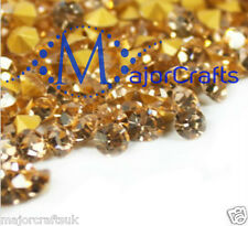 60pcs Light Peach ss29 6mm Point Back Glass Chatons Jewellery Rhinestones Gems