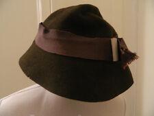 Cappello vintage in lana marrone brown vtg wool hat